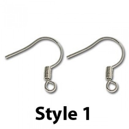Earwire, Silver-Plated, 4 types to chose (509-008P)