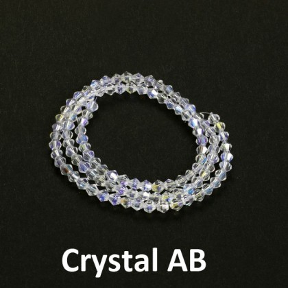 Chinese Crystal Glass Beads, 4mm Bicone (304-401P)