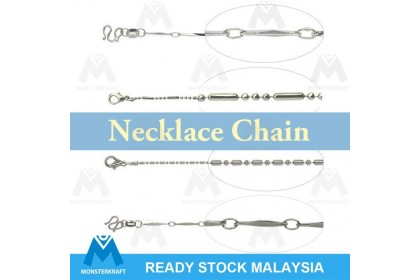 1 pcs Finished Chain, Silver Necklace Chain, Silver-Plated Brass (862-003P)
