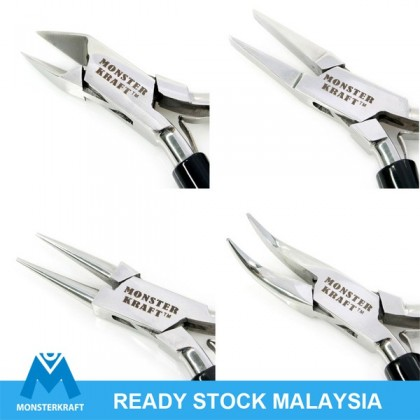 Pliers for Crafting, MONSTERKRAFT, Stainless Steel, 5 inches (880-068P)