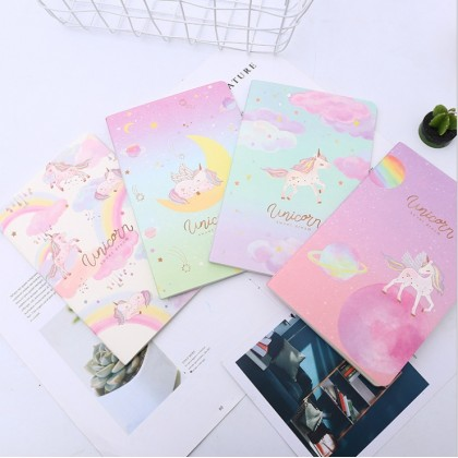 4pcs Unicorn A5 Notebook, Diary Notebook, A5 Planner