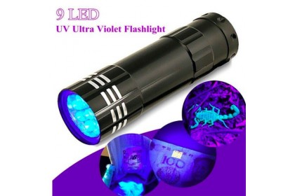 UV Curing LED Torch Light, with 9-LED using 3 x AAA Batteries (Not included)