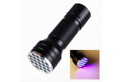 UV Curing LED Torch Light, with 21-LED using 3 x AAA Batteries (Not included)