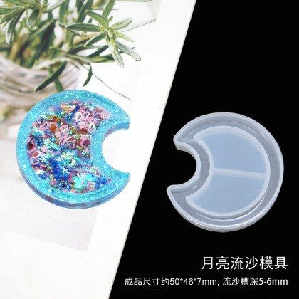 Resin Shaker Mold, Quicksand Silicone Mould use with Epoxy Resin UV Resin