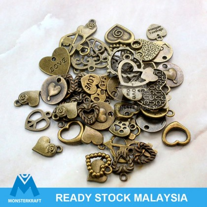 Charms Love Series Antique Brass-Plated Pewter 50grams