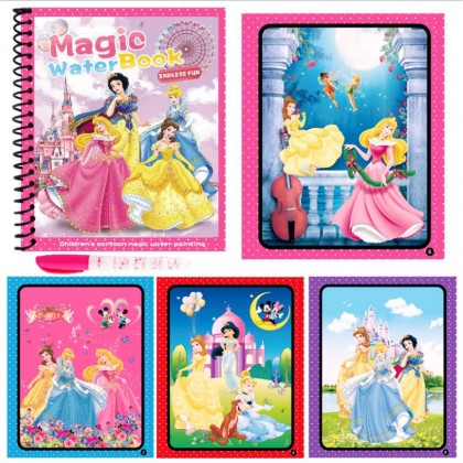 Magic Water Coloring Book, Clean and Safe for Kids, Drawing Book, Frozen Dinosaur Thomas Spiderman Peppa Disney Princess