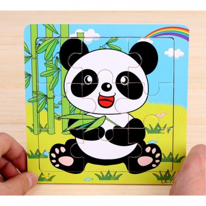 Wooden Puzzle 3D Jigsaw Puzzle For Kids Baby Animal Puzzle Toys Educational Kids Toys Early Learning Transport Puzzles