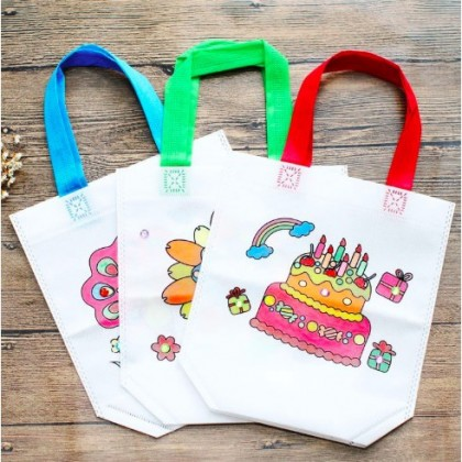 DIY Drawing Craft Bag Nonwoven Graffiti Colouring Bag