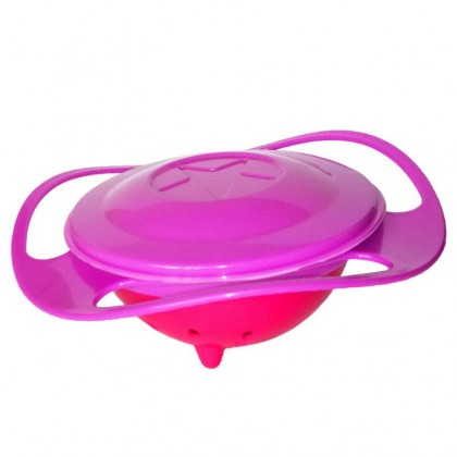360 Rotate Kid Bowl Non Spill Meal Dish Bowl Baby Bowl Kid Child Meal 360° Spin Gyro Bowl Toddler Bowl