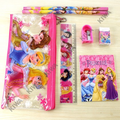 [ Pencil Case Stationery 7 in 1 Set ]