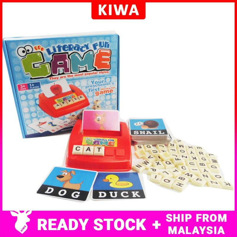 Baby Learning Word Puzzle Spelling Word Game Kids Puzzle ...
