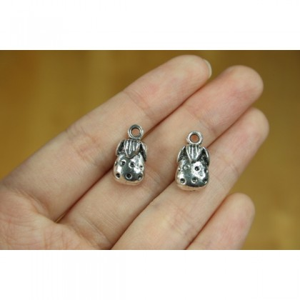 Silver Charms, Plants Flower Theme Flora Leaf Tree, Silver/Antique Silver-Plated Pewter Charm