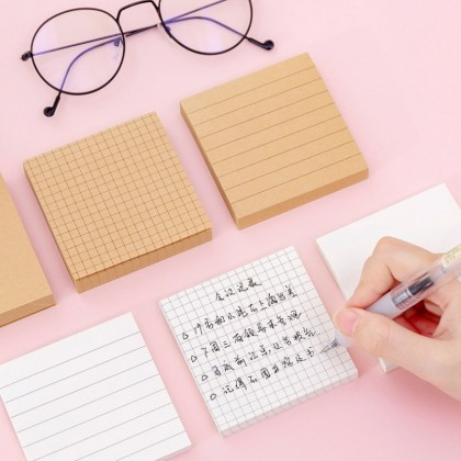 80 Sheets Daily Sticky Note Kraft paper Sticky Memo pad Planner