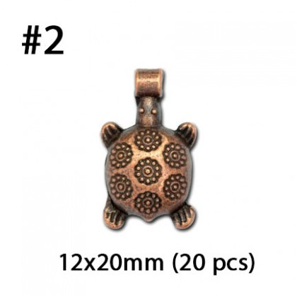 Copper Pewter Charms, Animal Tree Insect Bird