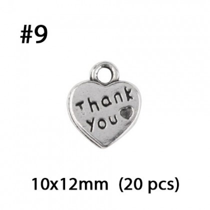 Silver Charms, Words Quotes Theme Plate Drops Quote Love Friend Friendship, Silver/Antique Silver-Plated Pewter Charm