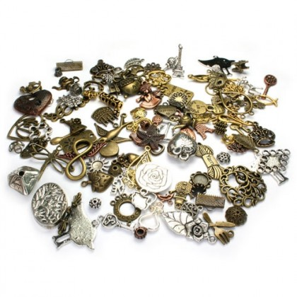 VALUE PACK: Pewter Charms & Links Assortments, Randomly Mixed Lot, 50 grams/pack (600-000L)