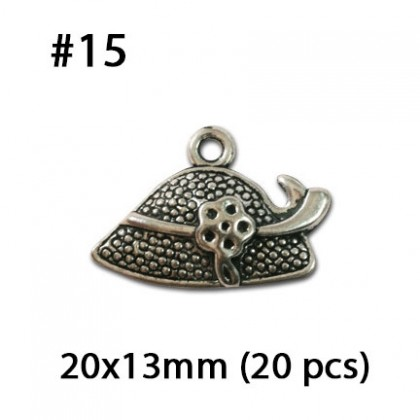 Silver Charms, Fashion Shopping Clothe Dress Blouse Pant Attire Shoe Hat, Silver/Antique Silver-Plated Pewter Charm