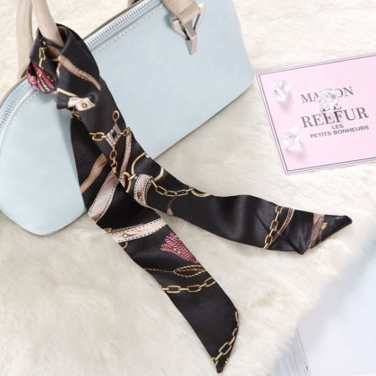 Twilly Scarf Ribbon Bag Tied Handle Neck Ribbon Ties