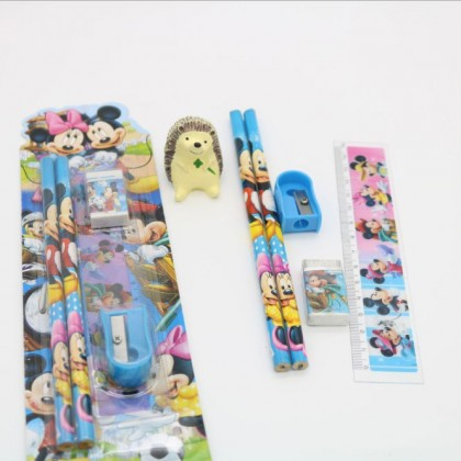 5 in 1 Kids Stationery Set School Student Birthday Present Gift Set Pencil