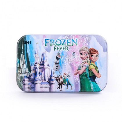 60 PCS Cartoon PUZZLE Metal Box Kid Children Puzzle Frozen Car Spiderman