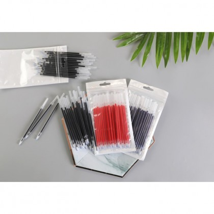 0.38mm 20pcs/set Gel Pen Refill Office Signature Rods Red Blue Black Ink Needle Head Stationery Writing Supplies