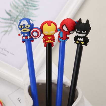 Hero Pen Superhero Gel Pen 0.5mm Black Ink Gel Pen Superman Hero