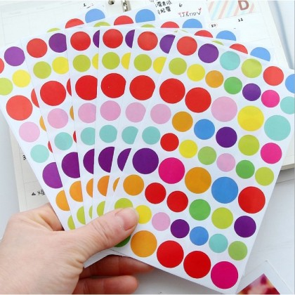 6 Sheets Colour Seal Stickers Star Love Circle