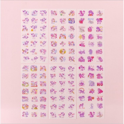 6 sheets Washi Stickers Pack