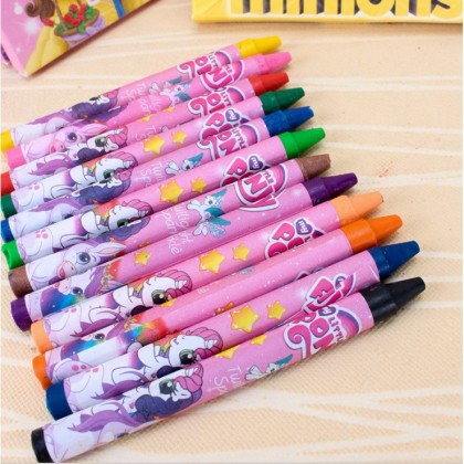 12 Colors Crayon Colour Stationery Set Kids Birthday Party Door Gift