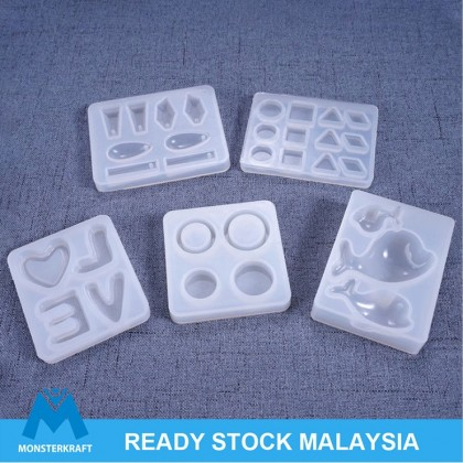 Small Multiple Shape Silicone Mold, UV Resin Epoxy Resin Mould, LOVE Pendant Gemstone Earstud Ring Mold